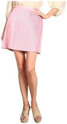 Tibi Pleat Skirt (Pink) - Apparel