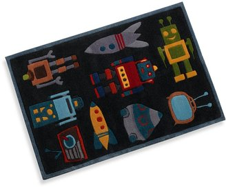Momeni Lil Mo Robot Accent Rug in Steel Blue