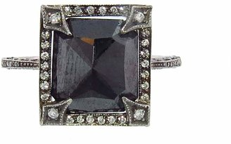 Cathy Waterman Rose Cut Black Diamond Frame Ring