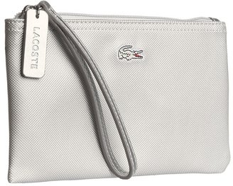 Lacoste L1212 Metallic Wristlet (Silver Cloud) - Bags and Luggage