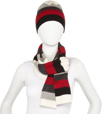 Asstd Private Brand 2-pc. Metallic Striped Scarf and Hat Gift Set