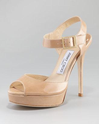 Jimmy Choo Linda Patent Platform Sandal