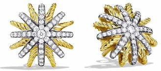 David Yurman Starburst Extra Small Earrings with Diamonds in Gold