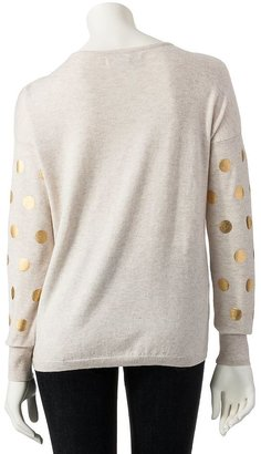 Lauren Conrad foil dot sweater - women's