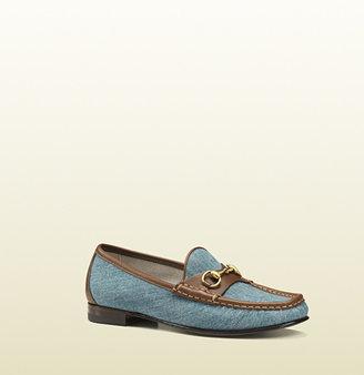 Gucci 1953 Horsebit Loafer In Denim