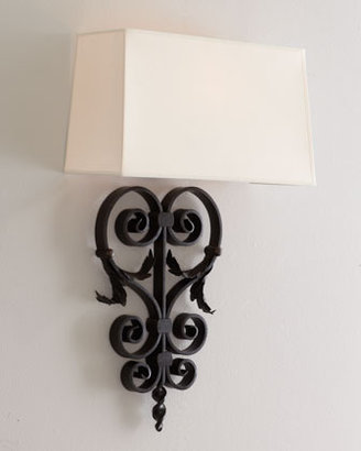 Aged-Iron Wall Sconce