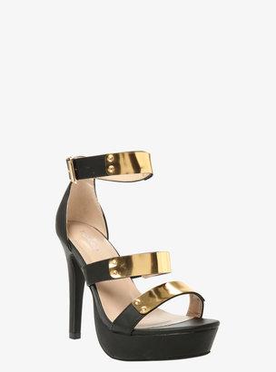 Torrid Metallic Strap Platform Heels (Wide Width)