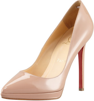 Christian Louboutin Pigalle Patent Platform Red Sole Pump
