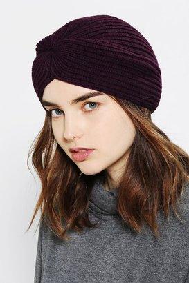 Urban Outfitters Rib-Knit Turban Beanie