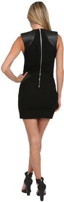 IRO Metallic Shoulder Dress in Black