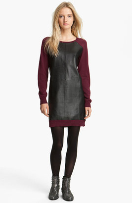 Zadig & Voltaire Leather & Knit Dress