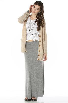 Alternative Apparel The Double Dare Maxi Skirt in Eco Grey