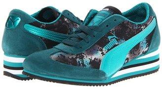 Puma Caroline Stripe Metal Wn's (Deep Teal Green/Blue Grass/Black) - Footwear