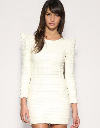 5.16 Structured Shoulder Quilted Dress