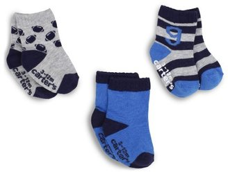Carter's Hosiery Baby-boys Newborn F12 Three Pack Athletic Football Sock