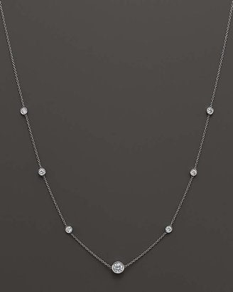 Bloomingdale's Diamond Station Necklace in 18K White Gold, 1.50 ct. t.w. - 100% Exclusive