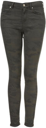 Camo MOTO Print Leigh Skinny Jeans
