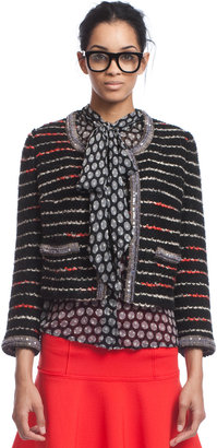 Tracy Reese Bead Trimmed Cardigan