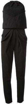 Balenciaga layered sleeveless jumpsuit