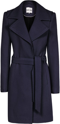 Reiss Lavina TEXTURED FIT AND FLARE COAT