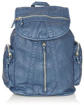 Topshop Washed Multi Zip Backpack