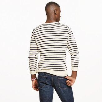 J.Crew Linen-cotton sweater in nautical stripe