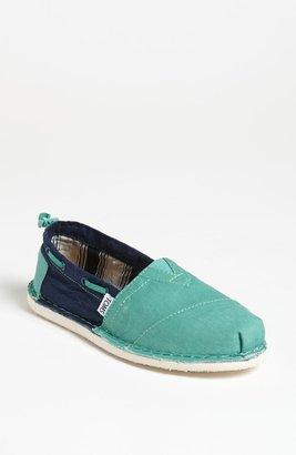 Toms 'Bimini - Two Tone' Slip-On (Women) Green/ Blue 9 M