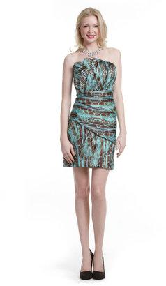 Christian Siriano Turquoise Ruffle Dress