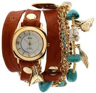 La Mer Navajo Charm Wrap (Tobacco/Gold) - Jewelry