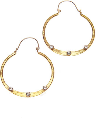 Evelyn Knight Hammered Hoop Earrings