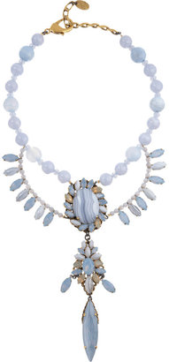 Erickson Beamon Crystal Rear Window Large Pendant Necklace