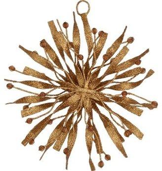 Crate & Barrel Glitter Star Ornament