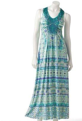 Apt. 9 medallion crochet maxi dress