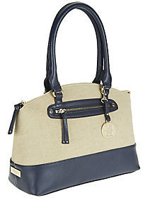 Liz Claiborne New York Double Strap Canvas Satchel $41.10 thestylecure.com