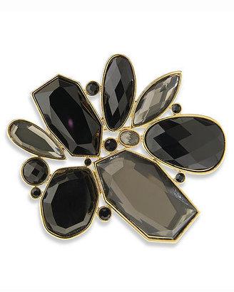 Newport News Jeweled Deco Brooch