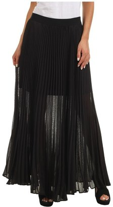 BCBGMAXAZRIA Estel Sunburst Pleated Skirt (Black) - Apparel