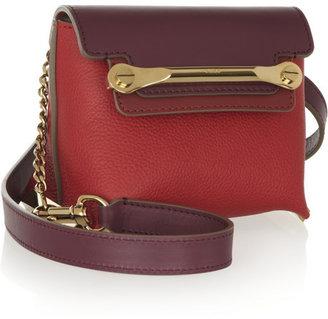 Clare mini textured-leather shoulder bag