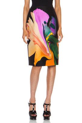 Josh Goot Orchid Morph Silk Skirt in Black