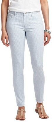 """LOFT Curvy Skinny Ankle Jeans in Wonder Dot Print with 29"""" Inseam"""