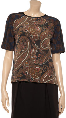 A.L.C. Racci paisley-print washed-silk top