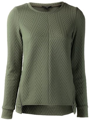 Tibi chevron top