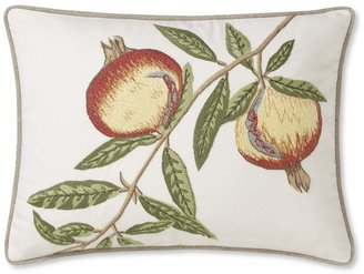 Williams-Sonoma Rustic Pomegranate Embroidered Pillow Cover