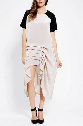 Urban Outfitters Cameo Bird Song High/Low Maxi Dress