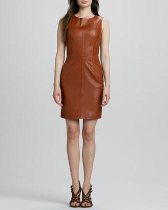 Trina Turk Carnegie Sleeveless Leather Dress