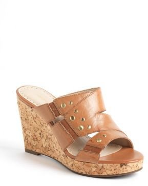Adrienne Vittadini Corral Cork Wedge Sandals