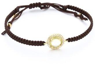 Tai Pave & Stone Circle Charm Bracelet