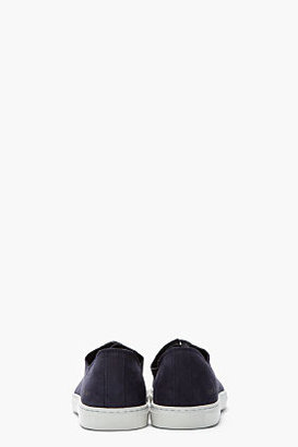 Common Projects Navy Nubuck Rec Sneakers