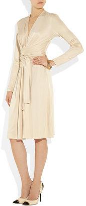 Issa Wrap-effect silk-jersey dress