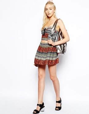 Asos Tribal Print Beach Skirt Co-ord