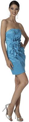 Jessica McClintock Taffeta Strapless Bustier Dress